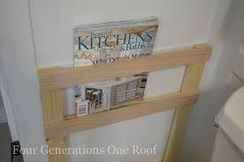 Bathroom Wall Magazine Rack Bathroom Diy Magazine Rack Tutorial Four Generations One Roof