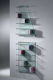 wall mounted shelf contemporary stainless steel glass