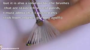 Best Nail Art Brushes How To Clean And Get A Soft Brush After Using Nail Polish Youtube