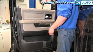 how to remove install front interior door panel 2009 2012 dodge