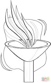 olympic torch coloring page coloring home