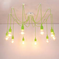 Cable Pendant Lighting Modern Pendant Lights 13 Colors Diy Lighting Multi Color Silicone