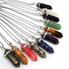 stone pendant leather necklace images Ne2318 black leather cord chain choker with hexagonal crystal jpg