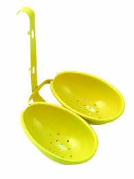 Yellow Kitchen Accessories by Amazon Com Eddingtons Egg Poacher Double Yellow Kitchen U0026 Dining