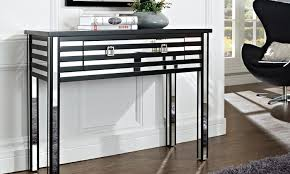 black sofa table with drawers black and mirror sofa table groupon goods