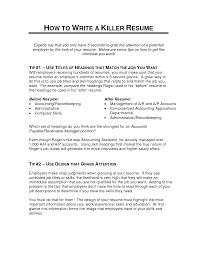 Good Job Titles For Resumes by Killer Resume 20 Updated Uxhandy Com