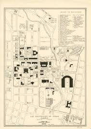 Austin Map by Historical Campus Maps University Of Texas At Austin Perry