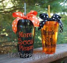 drink up witches or more boos please halloween tumbler cup with