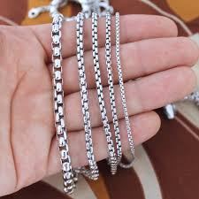 box chain necklace silver images Solid rhodium sterling silver round box chain necklace ebay JPG