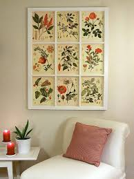 window frame art site has link to free botanical prints wall