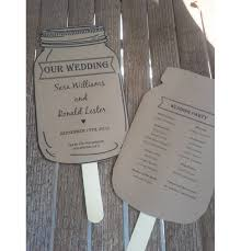jar wedding programs personalized rustic jar wedding paddle programs set aftcra