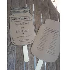 jar wedding programs personalized rustic jar wedding paddle programs set aftcra