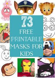 73 free printable masks kids