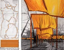 Central Park New York Map by Christo And Jeanne Claude Projects The Gates