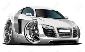 cartoon sports car modern cartoon car royalty free cliparts vectors and stock