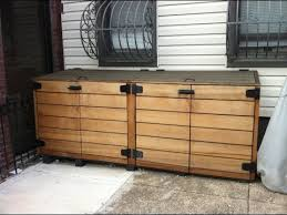 diy outdoor storage cabinet outdoor storage cabinet outdoor trash bin storage cabinet youtube