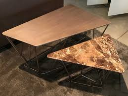coffee tables with steel top marelli outlet