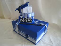 graduation card box royal blue silver white graduation party by lisaspaperparrodise