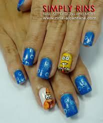 nail art spongebob and patrick simply rins