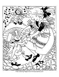 st patrick u0027s day coloring page dancing leprechauns