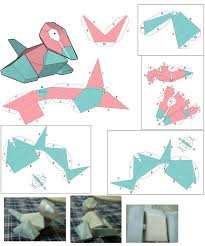 origami 3d bob esponja tutorial porygon paper craft patern by plume rouge on deviantart nerdy