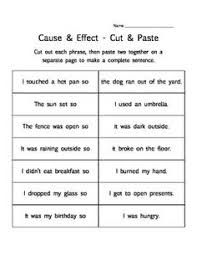 12 easy cause and effect activities and worksheets simple