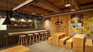 this cafe design project of burnt bistro toast was located at the