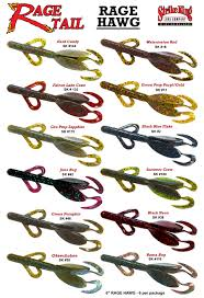 color selection rage tail lures rage hawg color selection