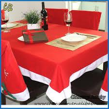 santa hat chair covers 2017 alibaba top seller christmas dining table cloth and santa hat