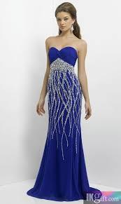 sheath sweetheart chiffon and beading long prom dress image