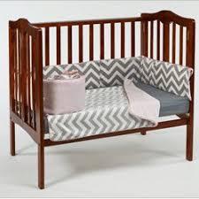 Small Crib Bedding Baby Doll Minky Chevron Mini Crib Port A Crib