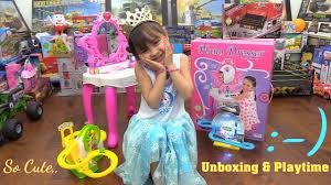Little Girls Play Vanity Toy Channel Little U0027s Pink Vanity Dresser Play Set Unboxing