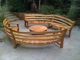 wooden curved outdoor bench curved outdoor bench furniture
