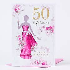 50 birthday card 50th birthday card fifty fabulous only 99p