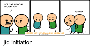 Meme Cartoon Generator - it s time we both became men created with explosm comic generator