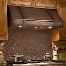 copper range hood backsplash kitchen zoom