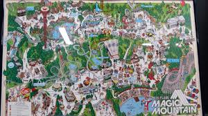 6 Flags California Tickets Six Flags Magic Mountain Fold Out Map From 1988 Apologies For