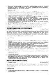 Resume For Maintenance Engineer Resume For Plant Maintenance Management Position