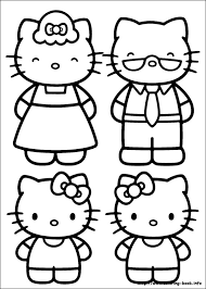 kitty coloring picture kid kitty