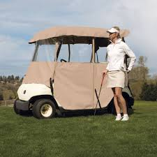 classic accessories deluxe 4 sided golf cart enclosure 2 person