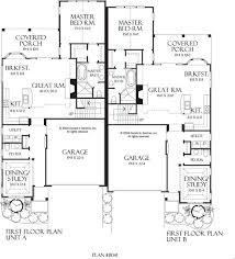 Multi Family House Plans Triplex 40 Best Duplex U0026 Triplex Images On Pinterest Duplex House Plans