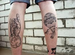half sleeve air balloon design of tattoosdesign of