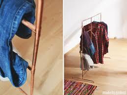 copper u2013 diy clothes rack from copper pipes nadel u0026gabel