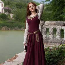 medieval dress u201cgreensleeves u201d for noblewomen available in ivory