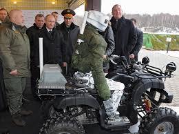vladimir putin military watch the russian military show vladimir putin its new cyborg biker