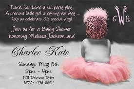 baby shower invitation wording girl baby shower invitations wording cimvitation
