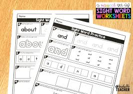 First Grade Sight Words Worksheets Editable Sight Word Worksheets A Teachable Teacher