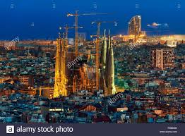 barcelona city view spain catalonia barcelona panoramic view and skyline of the city