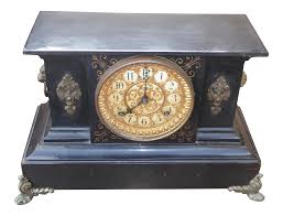Ansonia Mantel Clock 1882 Ansonia Victorian Style Cast Iron Mantle Clock Chairish