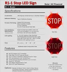 stop sign with led lights 36 stop sign led stop sign ac powered for sale